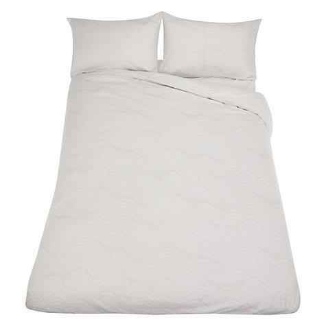 MissPrint Frontier Duvet Set in White/Grey