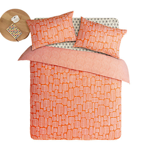 MissPrint Little Trees Bedding Set Orange Red