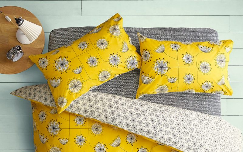 Mustard yellow bedding set from John Lewis, perfect for the eclectic style bedroom!