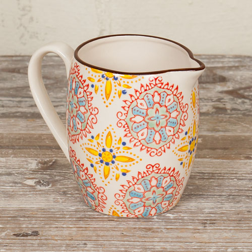 Hand-painted Bohemian Milk Jug