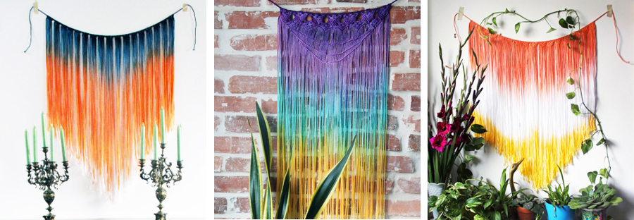 Macrame Wall Hangings from Etsy