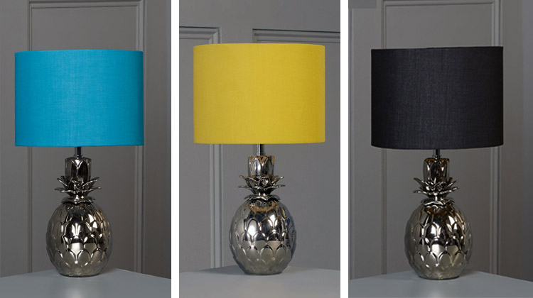 """Bathroom Lights House Of Fraser a pineapple lamp is the eclectic home """"must have"""" this season"""