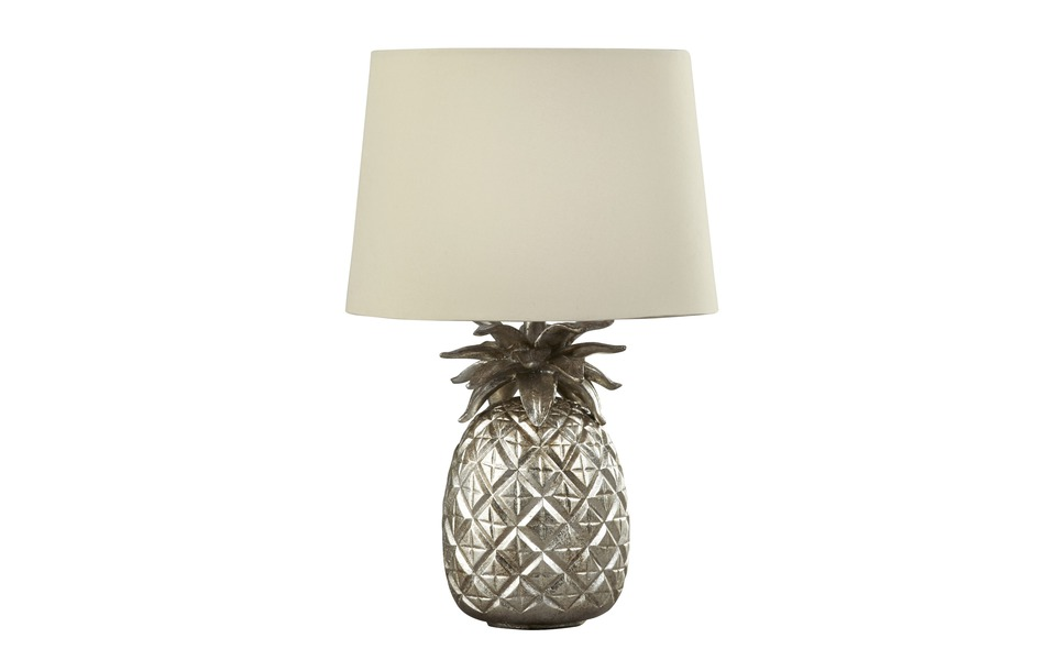 Laura Ashley Pineapple Lamp in Champagne Gold