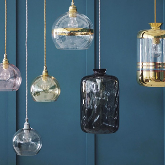 Glass Pendant Lights from Graham and Green