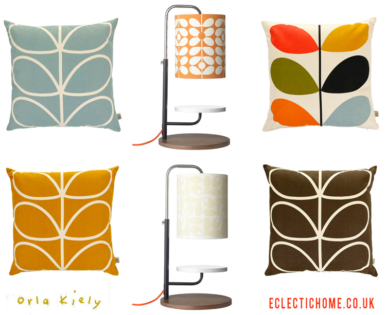 Orla Kiely cushions and lamps from Amara