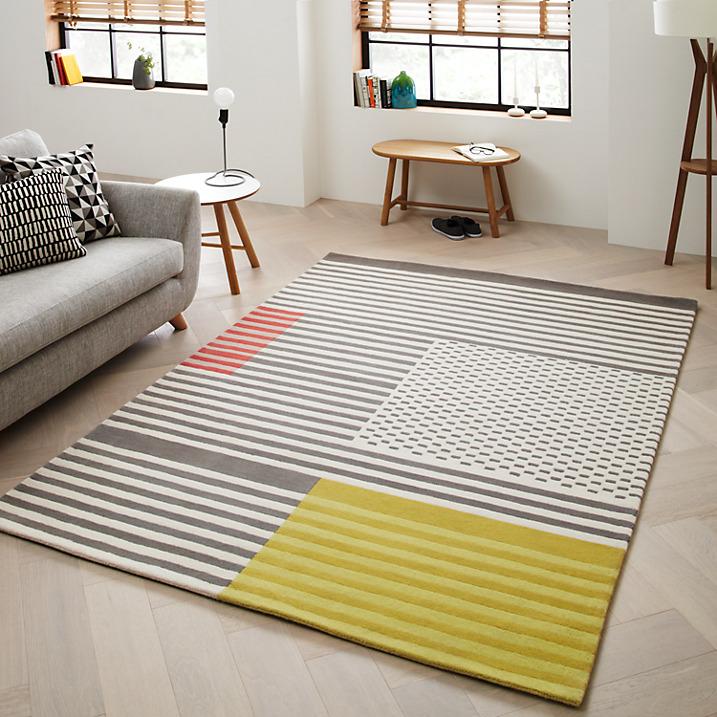 Scandi style wool rug