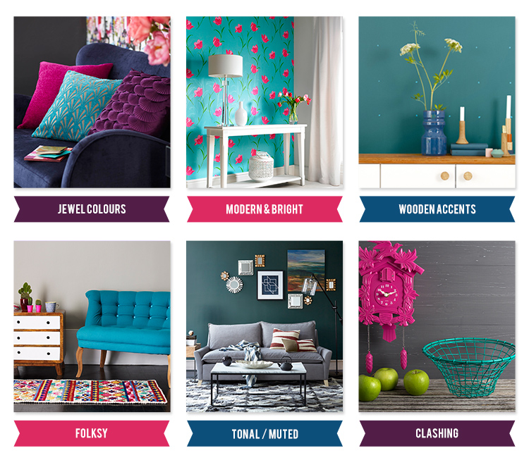 Moodboard Monday: Teal Home Decor.  How to use this bright, beautiful colour in your home redesign - eclectichome.co.uk