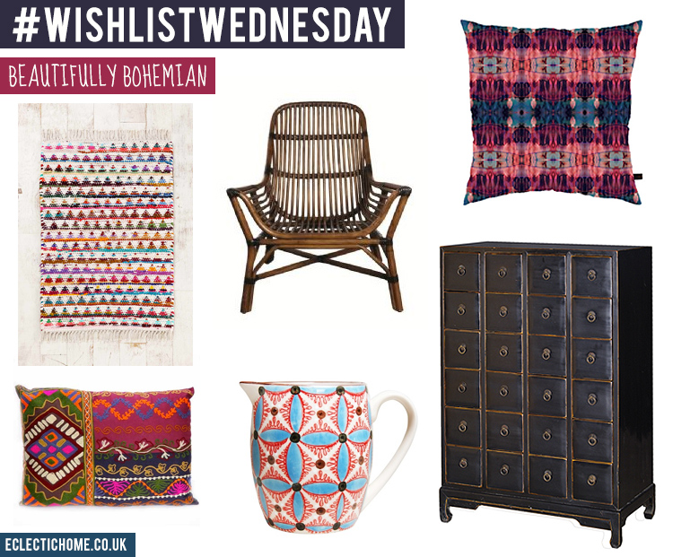 #Bohemian style for your living room - my wish list picks #HomeDecor