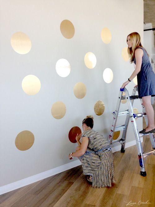Laurenconrad.com - office makeover using contact paper dots