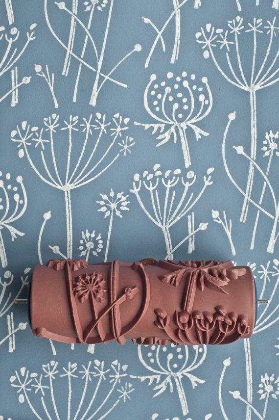 Patterned print rollers by The Painted House