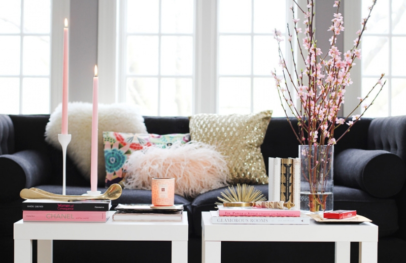 Feminine Coffee Table Style by The Every Girl