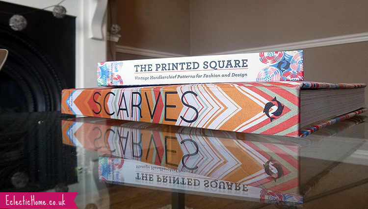 My coffee table books about scarves (obviously).