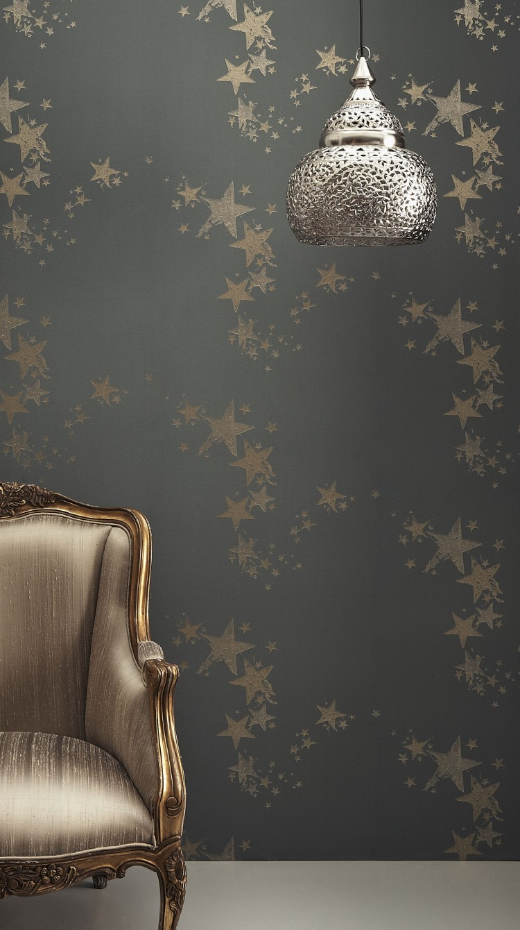 All Star Wallpaper in Gunmetal