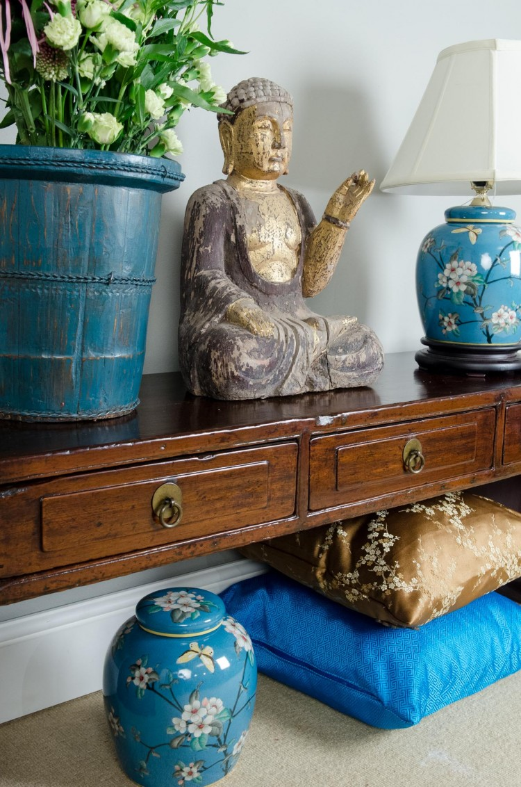 Budha, blues & metallic accents  - orchidfurniture.co.uk