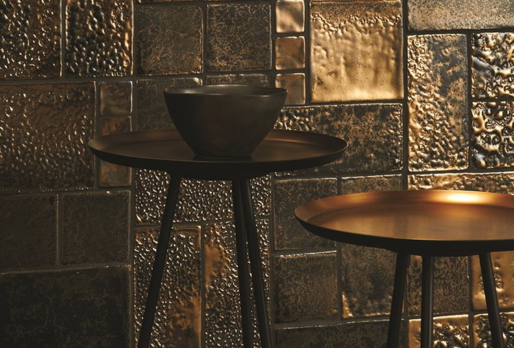 Roman Gold mix tiles from Winchestertiles.com