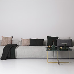 Grey, Black, Gold & Pink living room colour scheme