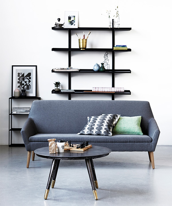 Grey sofa with Scandi charm - from Les Esthetes