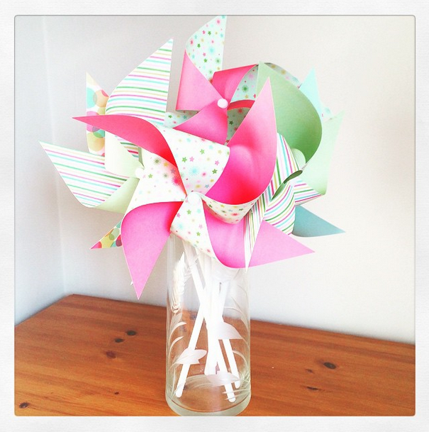 Pinwheels on my desk