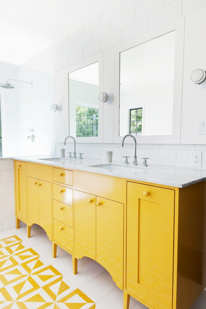 bright bathroom furniture