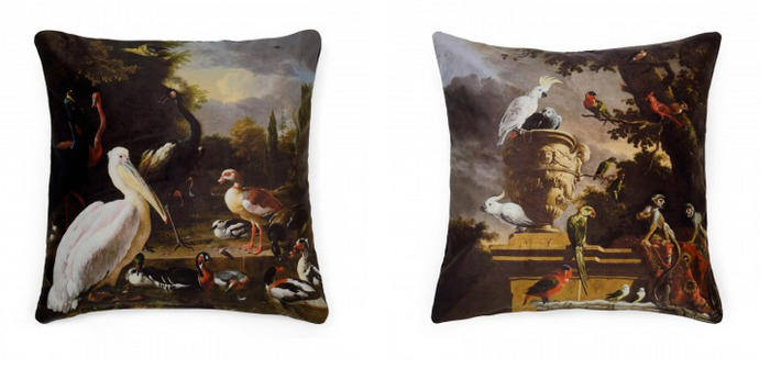 Exotic, mythical printed cushions
