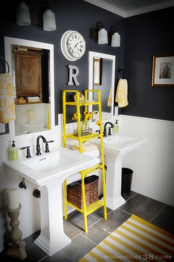 yellow colour pop bathroom