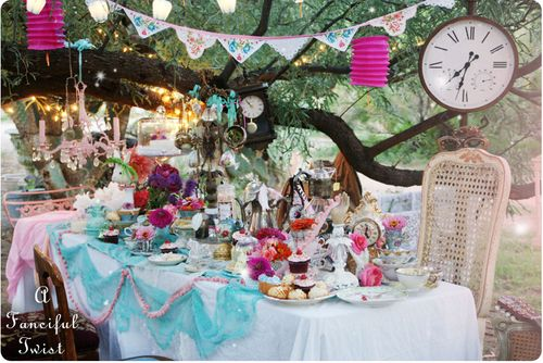 A bright, beautiful boho/eclectic style tea party from http://afancifultwist.typepad.com/