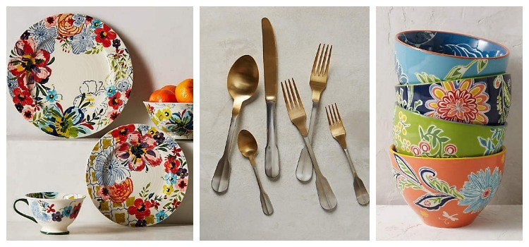 Bright, patterned and eclectic crockery from Anthro