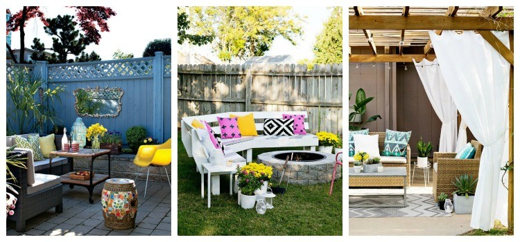 eclectic outdoor rooms