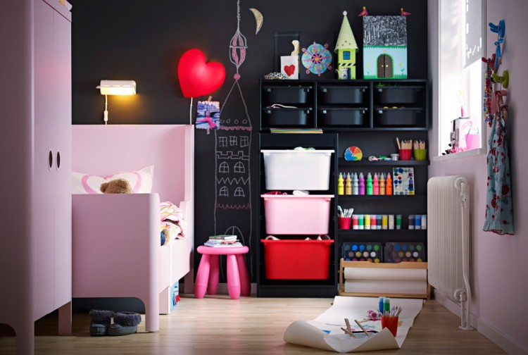 Ikea created this super storage solution for the creative kid who loves arts and crafts.