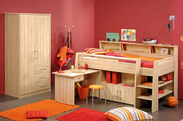 Cabin bed with plenty of storage space