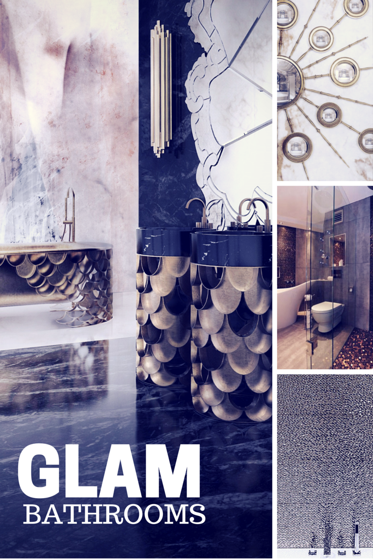 Glam bathroom ideas from EclecticHome.co.uk