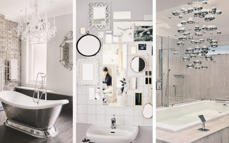 Bathroom inspiration: glitz and glam