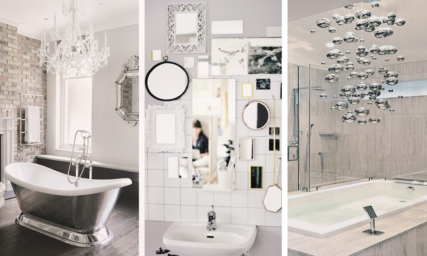 Bathroom inspiration glitz and glam eclectic home for Bathroom ideas uk 2015